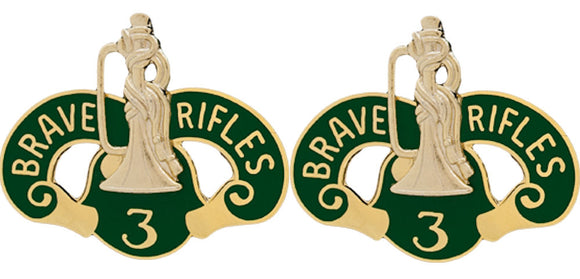 3rd ACR (Armored Cavalry Regiment) Distinctive Unit Insignia - Pair