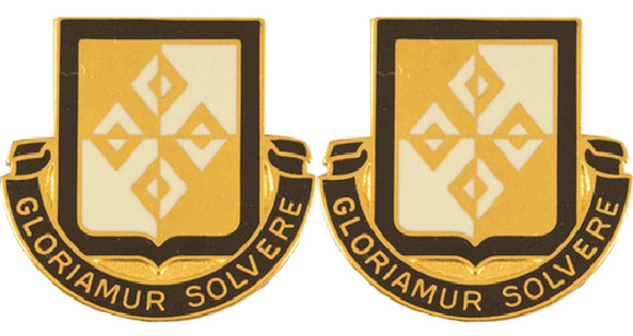 4th Finance Battalion Distinctive Unit Insignia - Pair