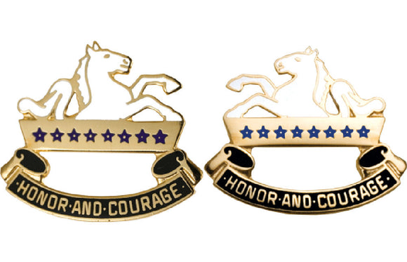8TH CAVALRY Distinctive Unit Insignia - Pair - HONOR AND COURAGE