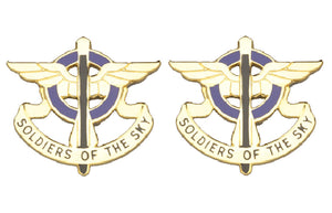 10th Aviation Distinctive Unit Insignia - Pair - SOLDIERS OF THE SKY