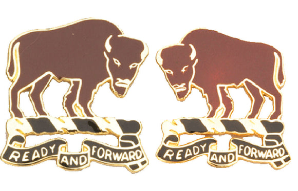 10th Cavalry Distinctive Unit Insignia - Pair - READY AND FORWARD
