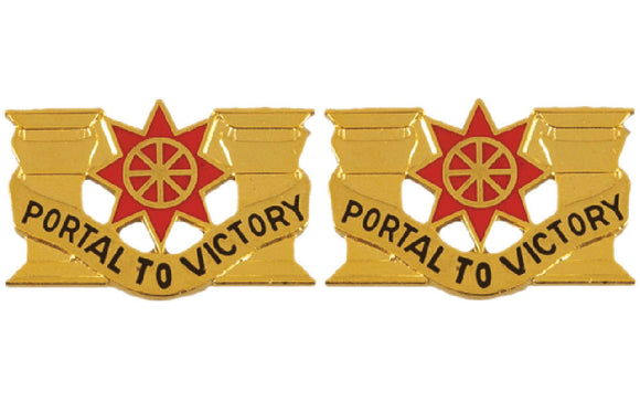 10th Transportation Battalion Distinctive Unit Insignia - Pair - PORTAL TO VICTORY