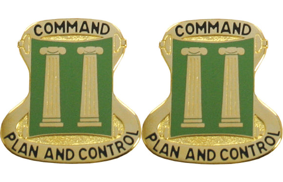11th Military Police MP Brigade Distinctive Unit Insignia - Pair - COMMAND PLAN AND CONTROL
