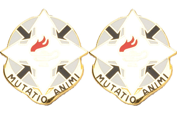 12th PSYOPS Battalion Distinctive Unit Insignia - Pair - MUTATIO ANIMI