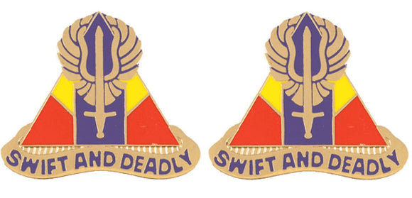 13th Aviation Regiment Distinctive Unit Insignia - Pair - SWIFT AND DEADLY