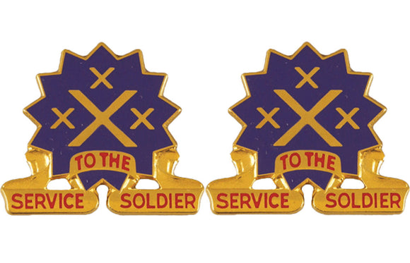 13th Corps Support Command Distinctive Unit Insignia - Pair - SERVICE TO THE SOLDIER