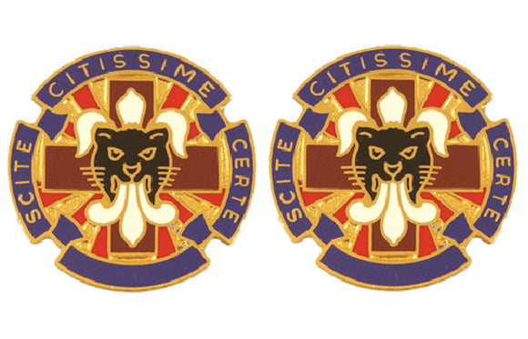 13th Combat Support Hospital Distinctive Unit Insignia - Pair - SCITE CITIS SIME CERTE