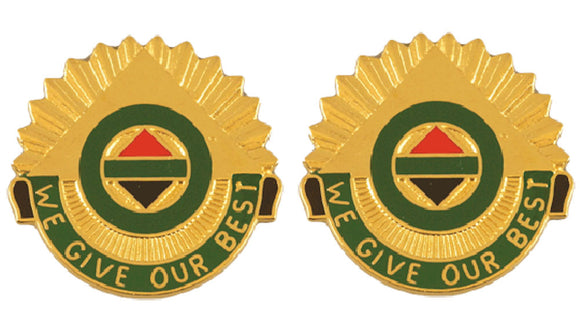 14th Military Police MP Brigade Distinctive Unit Insignia - Pair - WE GIVE OUR BEST