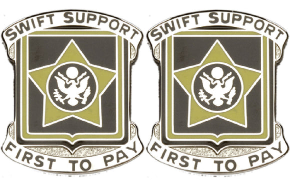 15th Finance Battalion Distinctive Unit Insignia - Pair