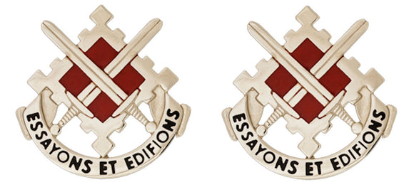 18th Engineering Brigade Distinctive Unit Insignia - Pair