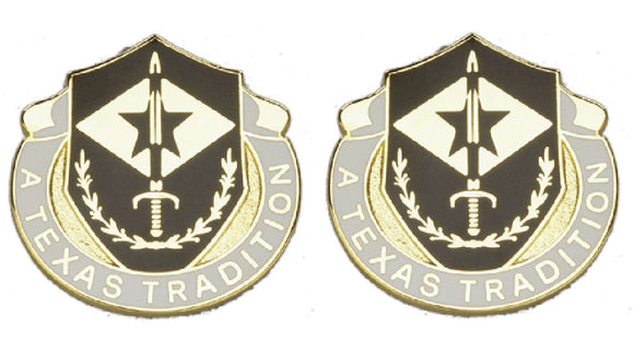 49th Finance Battalion Division Distinctive Unit Insignia - Pair