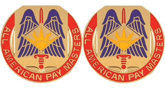 82nd Finance Distinctive Unit Insignia - Pair