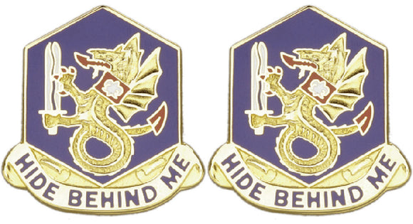 92nd Chemical Battalion Distinctive Unit Insignia - Pair