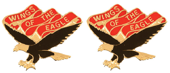 101st Aviation Battalion Distinctive Unit Insignia - Pair - WINGS OF THE EAGLE