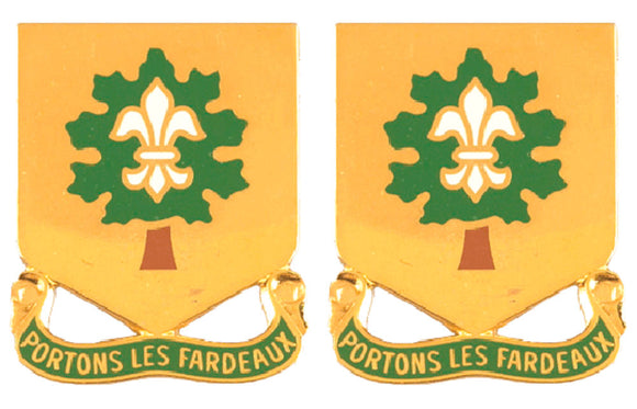101st Support Battalion Distinctive Unit Insignia - Pair - PORTONS LES FARDEAUX