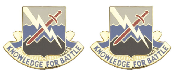 102nd Military Intelligence Battalion Distinctive Unit Insignia - Pair - KNOWLEDGE FOR BATTLE