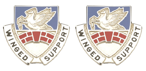 104th Aviation Pennsylvania Distinctive Unit Insignia - Pair - WINGED SUPPORT