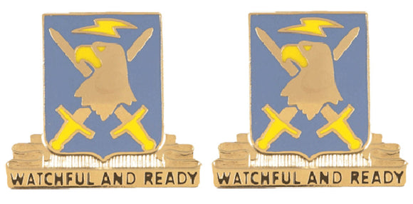 104th Military Intelligence Battalion Distinctive Unit Insignia - Pair - WATCHFUL AND READY