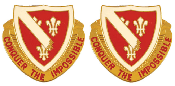 105th Engineering Battalion Distinctive Unit Insignia - Pair - CONQUER THE IMPOSSIBLE