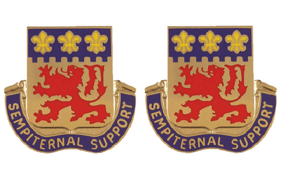 105th Engineering Group Distinctive Unit Insignia - Pair - SEMPITERNAL SUPPORT