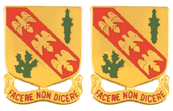 107th Armored Cavalry Regiment Distinctive Unit Insignia - Pair - FACERE NON DICERE