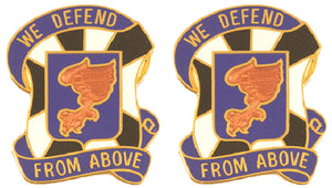 108th Aviation Distinctive Unit Insignia - Pair - WE DEFEND FROM ABOVE