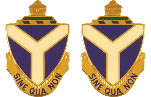 108th Maintenance Battalion Distictive Unit Insignia - Pair - SINE QUA NON