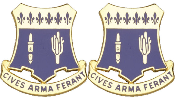 109th Infantry Distinctive Unit Insignia - Pair - CIVES ARMA FERANT