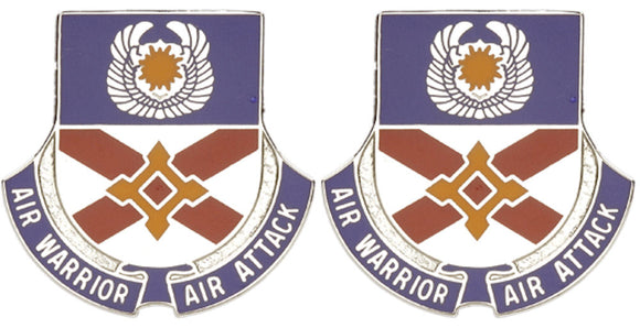 111th Aviation Battalion Distinctive Unit Insignia - Pair - AIR WARRIOR AIR ATTACK