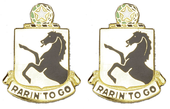 112th Armor Distinctive Unit Insignia - Pair - RARIN TO GO
