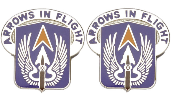 112th Aviation North Dakota Distinctive Unit Insignia - Pair - ARROWS IN FLIGHT