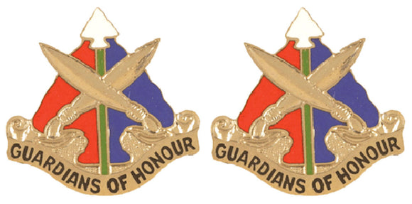 112th Military Police MP Battalion Distinctive Unit Insignia - Pair - GUARDIANS OF HONOUR