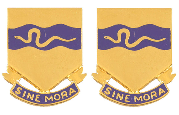 116th Cavalry Distinctive Unit Insignia - Pair - SINE MORA