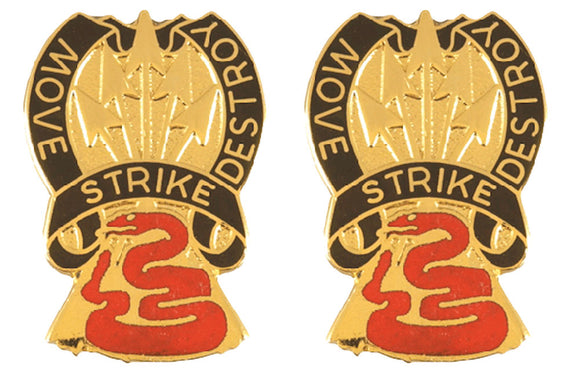 116th Cavalry Brigade Distinctive Unit Insignia - Pair - MOVE STRIKE DESTROY