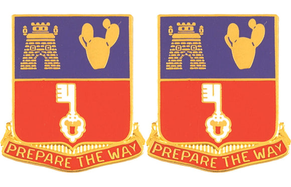 116th Engineering Battalion Distinctive Unit Insignia - Pair - PREPARE THE WAY