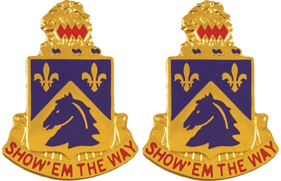 117th Cavalry Distinctive Unit Insignia - Pair - SHOW EM THE WAY