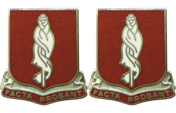 118th Military Police MP Battalion Distinctive Unit Insignia - Pair - FACTA PROBANT