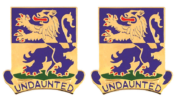 119th Infantry Battalion Distinctive Unit Insignia - Pair - UNDAUNTED