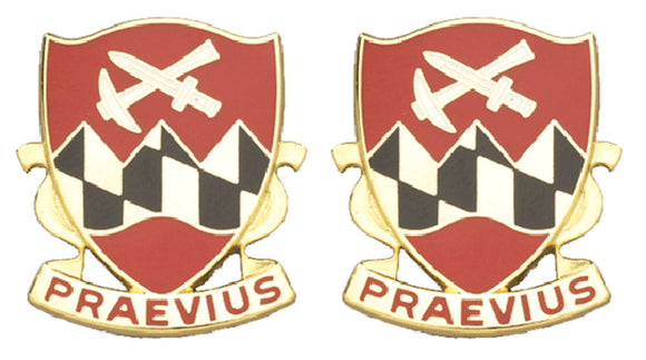 121st Engineering Battalion Distinctive Unit Insignia - Pair - PRAEVIUS