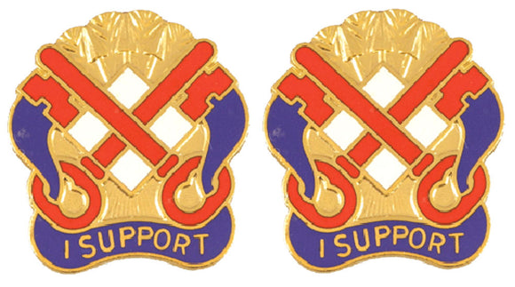 122nd Support Group Alabama Distinctive Unit Insignia - Pair - I SUPPORT