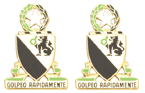 124th Cavalry Texas Distinctive Unit Insignia - Pair - GOLPEO RAPIDAMENTE