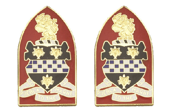 128th Support Battalion Distinctive Unit Insignia - Pair - PUEBLA TO THE MARINE