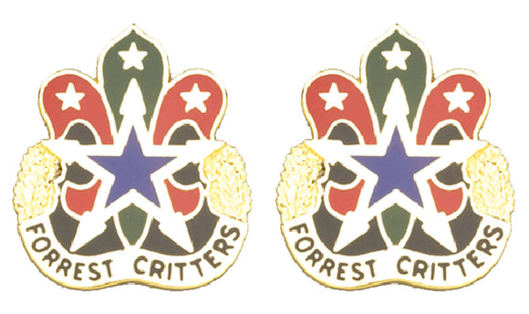 130th Support Center Tennessee Distinctive Unit Insignia - Pair - FORREST CRITTERS