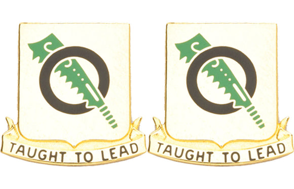 131st Armor Battalion Distinctive Unit Insignia - Pair - TAUGHT TO LEAD