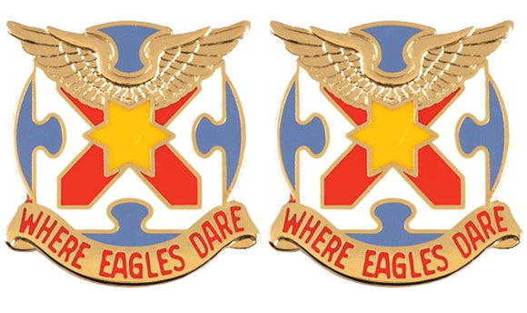 131st Aviation Battalion Distinctive Unit Insignia - Pair - WHERE EAGLES DARE
