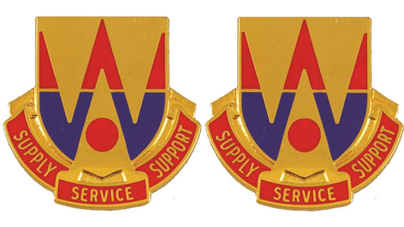 132nd Support Battalion Distinctive Unit Insignia - Pair - SUPPLY SERVICE SUPPORT