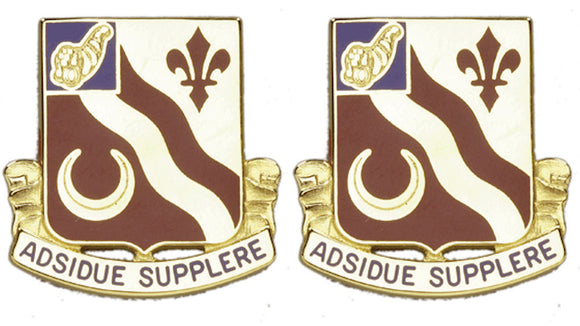 134th Support Battalion Distinctive Unit Insignia - Pair - ADSIDUE SUPPLERE