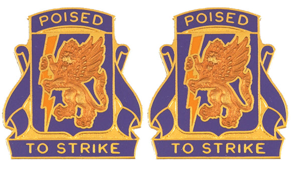 135th Aviation Distinctive Unit Insignia - Pair - POISED TO STRIKE