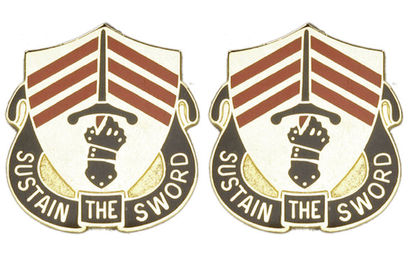 143rd Support Battalion Distinctive Unit Insignia - Pair - SUSTAIN THE SWORD