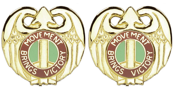 143rd Transportation Command Distinctive Unit Insignia - Pair - MOVEMENT BRINGS VICTORY